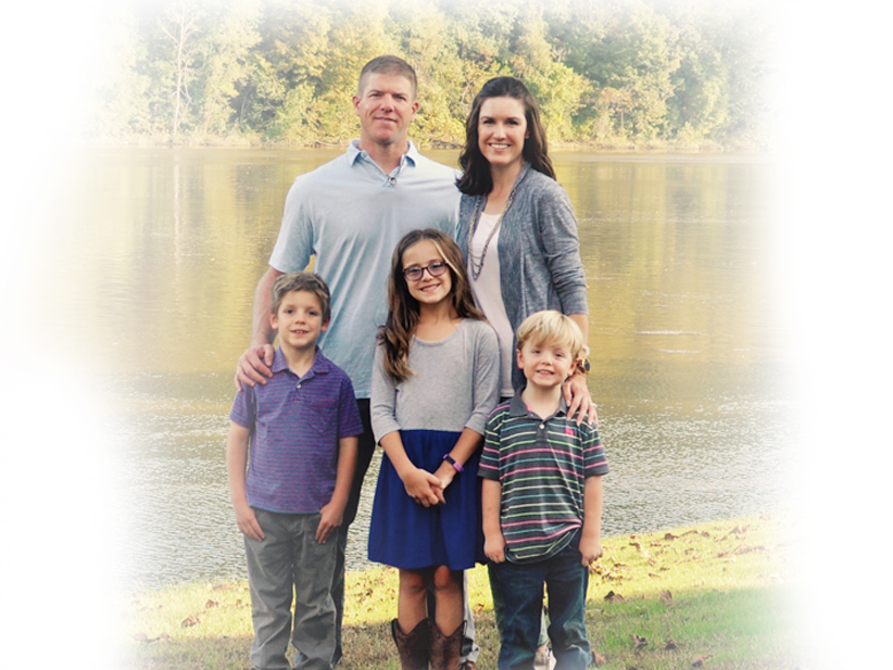 Worthington Dentist Dr. Adams with His Family