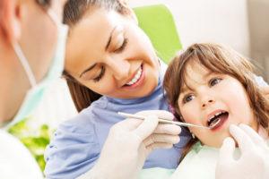 mother and daughter, dentist visit, children's dentist, family dentist